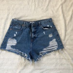 Forever 21 ripped jean cut off shorts